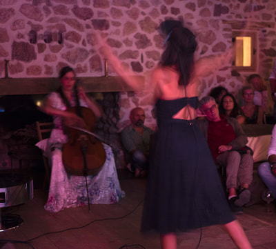 Pause Festival, performance with Camille Thomas,  La Donaira, aout 2018